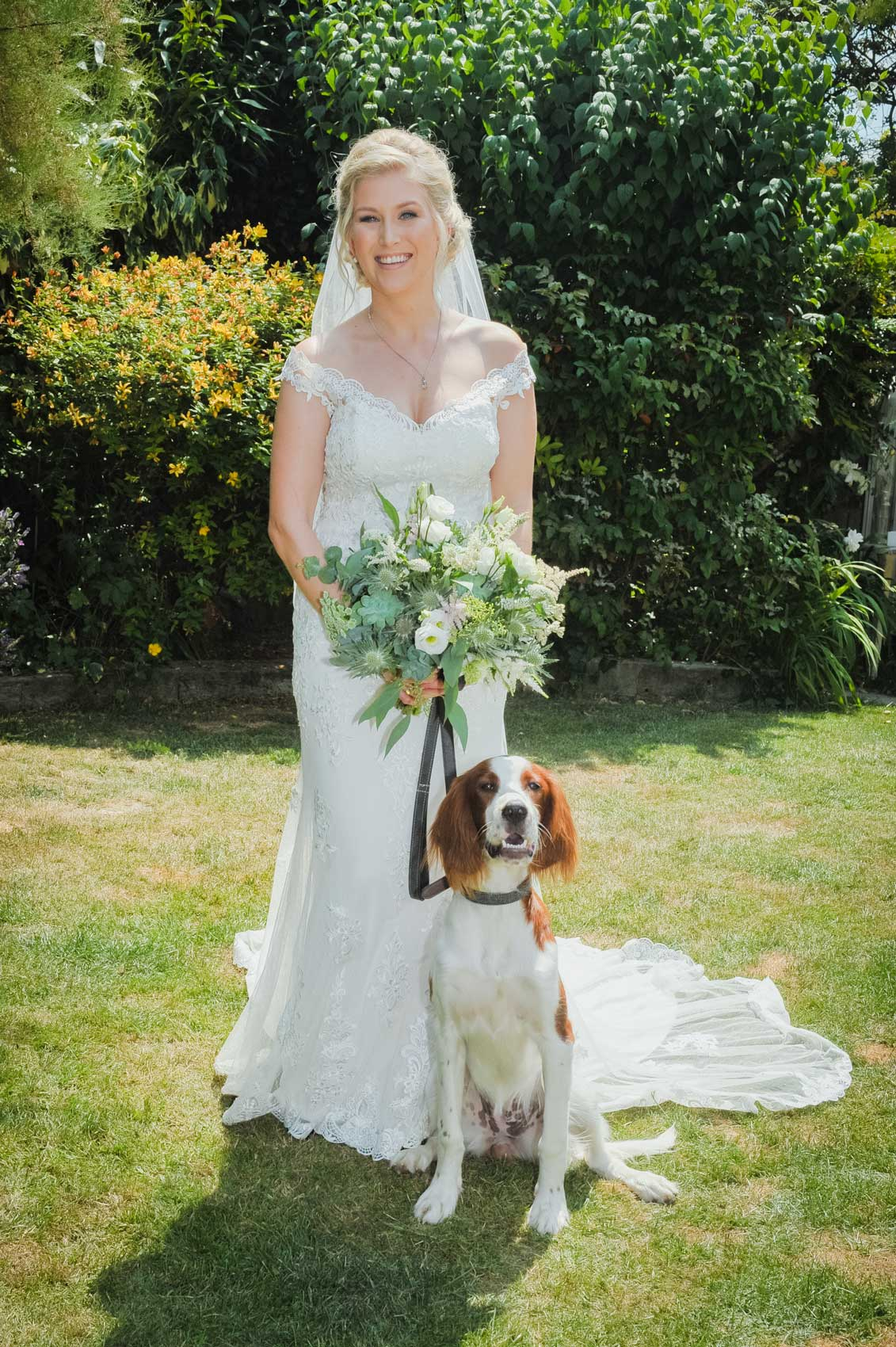 Bride and the Dog Wedding Photo Wedding