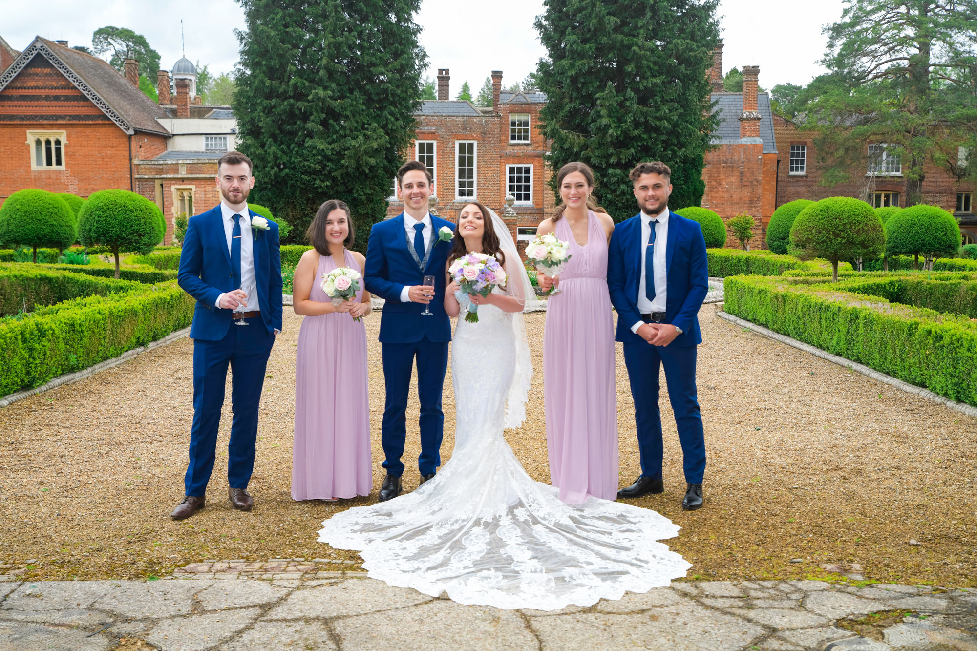 Bridal party Wedding Photography Wotton House