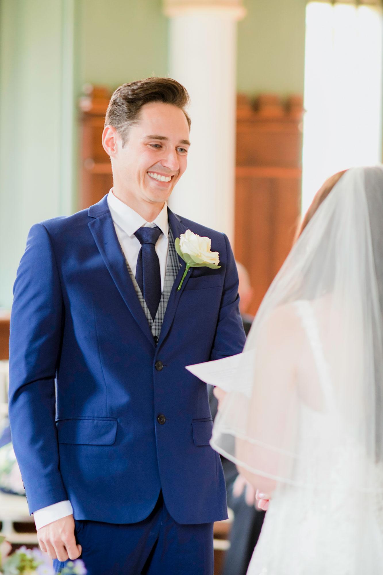 Grooms Vows Wedding Photo Wotton House