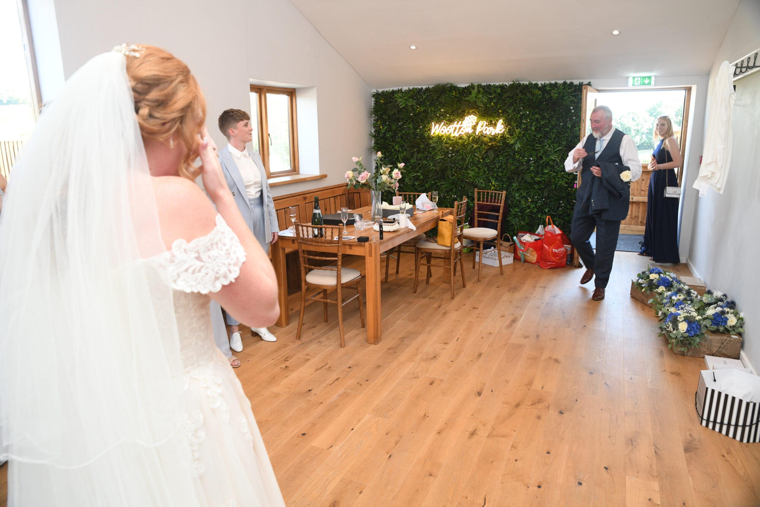 Brides Reveal Wedding Photography Wootton Park