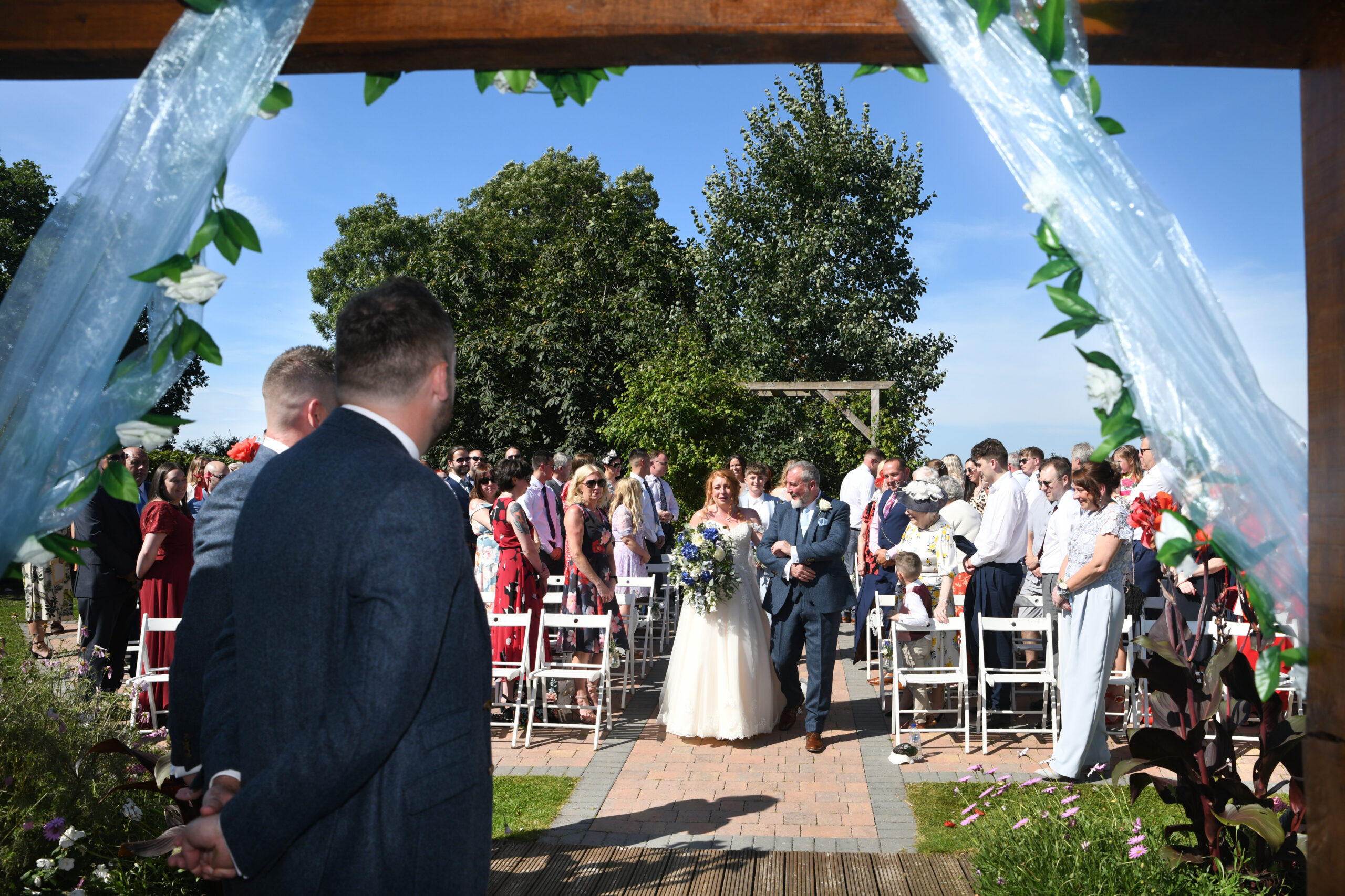Outside Ceremony Wedding Photographer Wootton Park