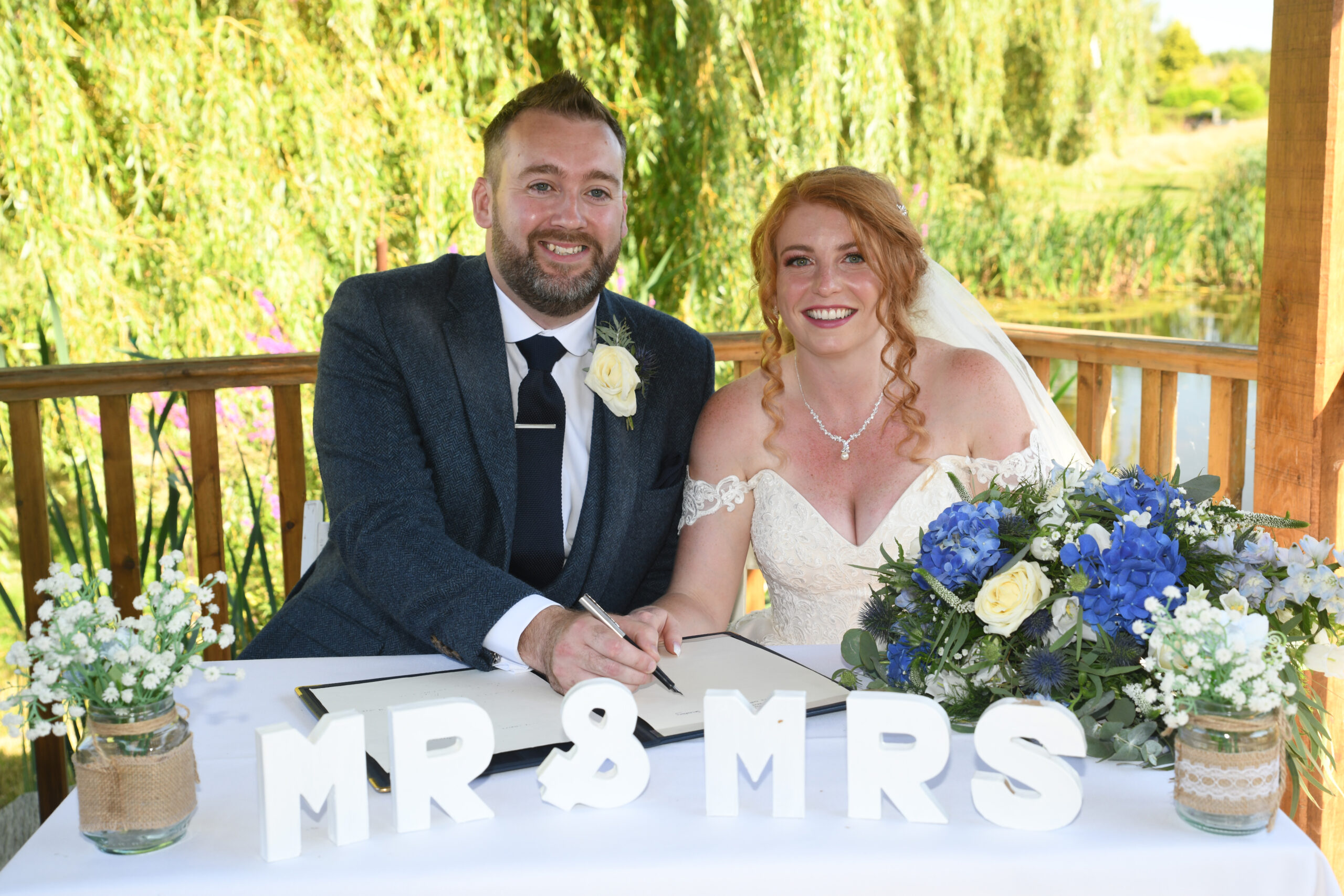Outside Ceremony Wedding Photography at Wootton Park