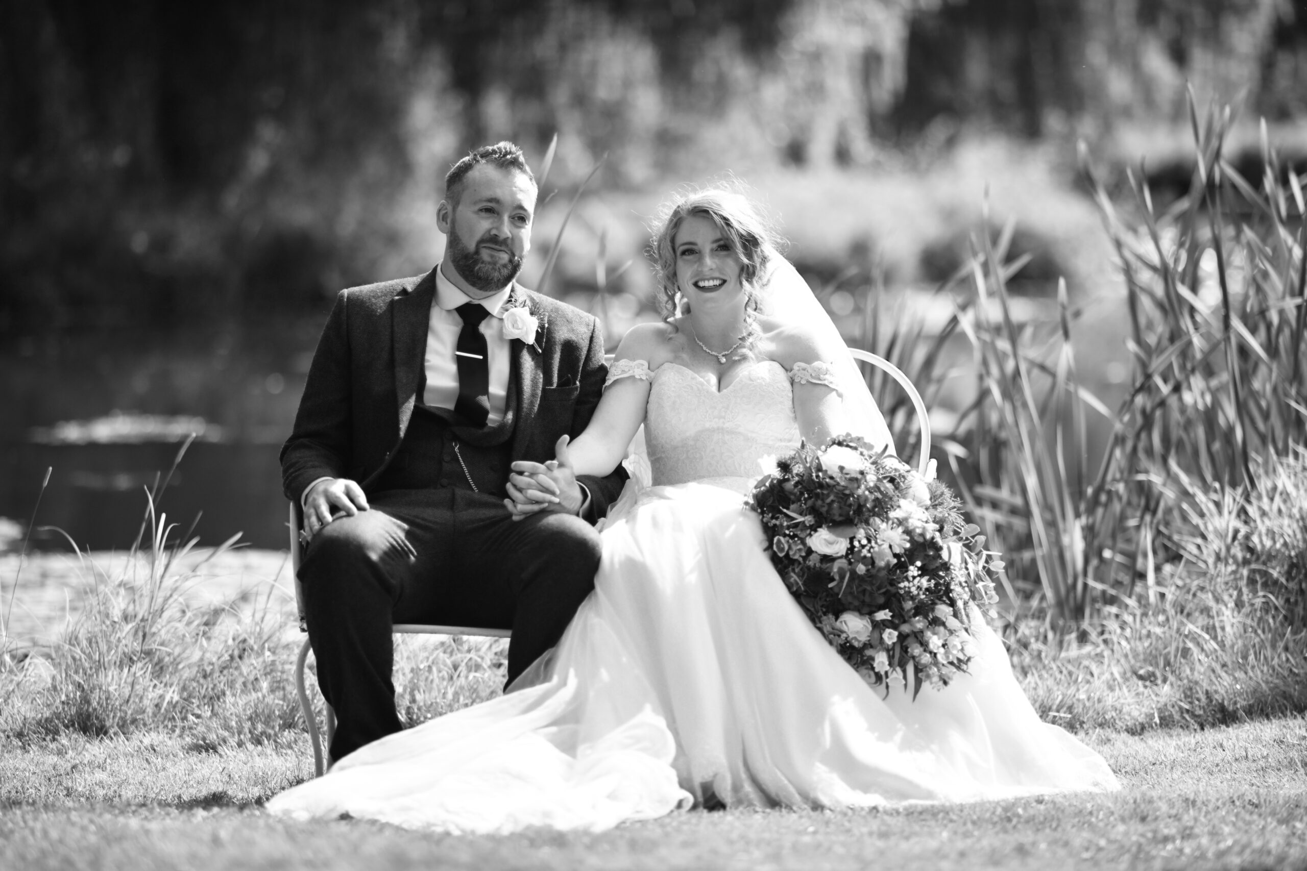 Wedding Photography on the lake at Wootton Park