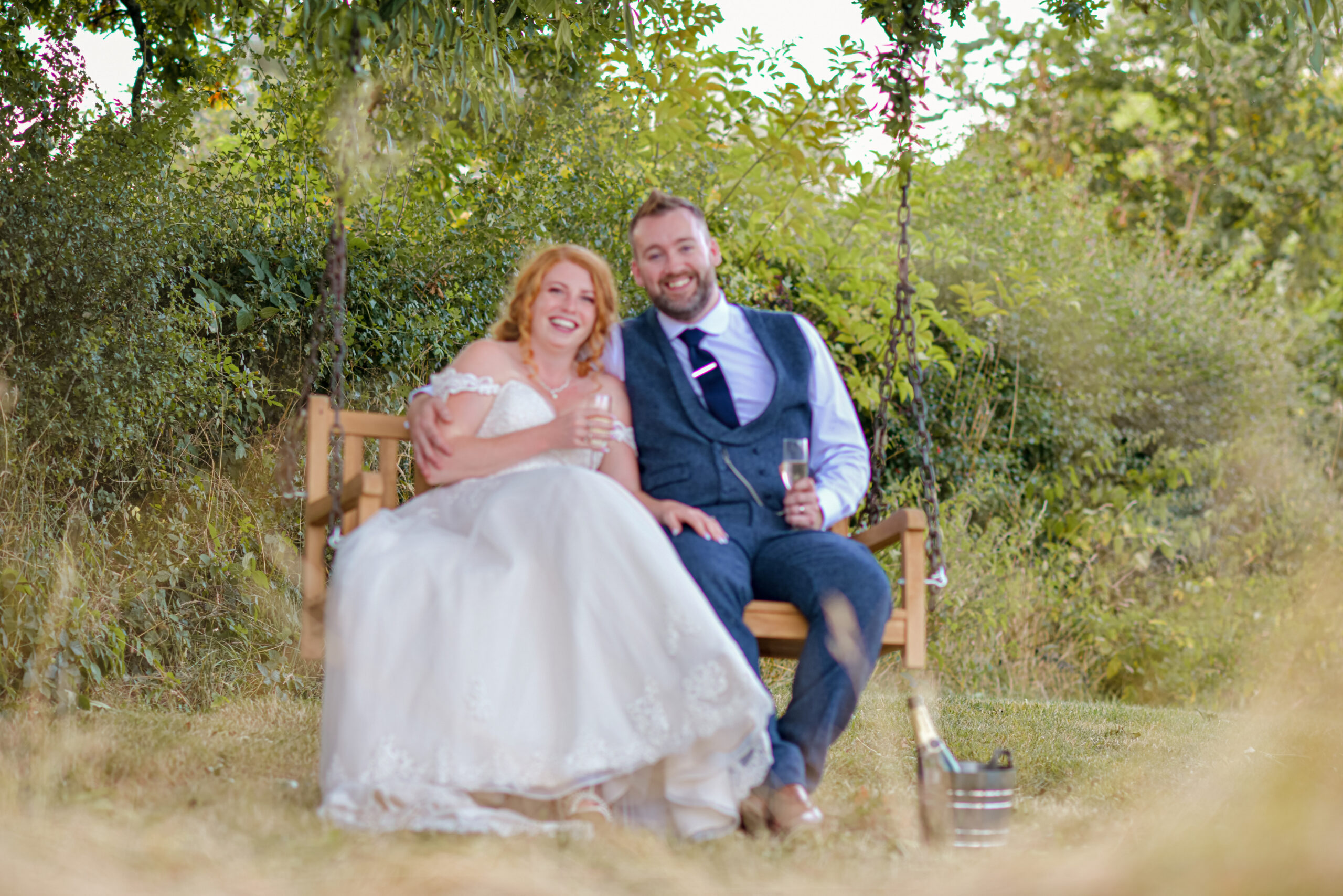 Wedding Photography on the Swing at Wootton Park