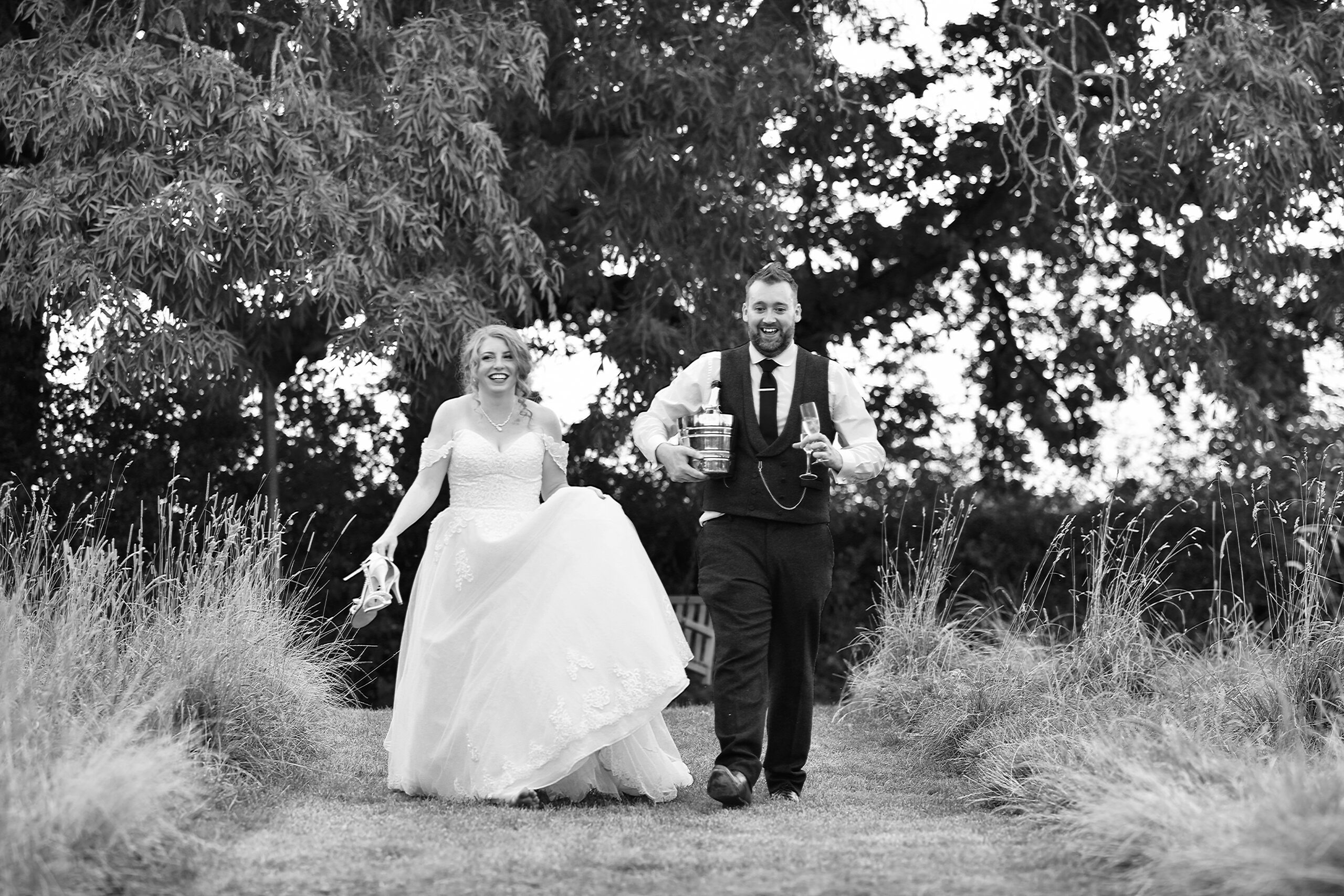 Black and White Wedding Photography at Wootton Park