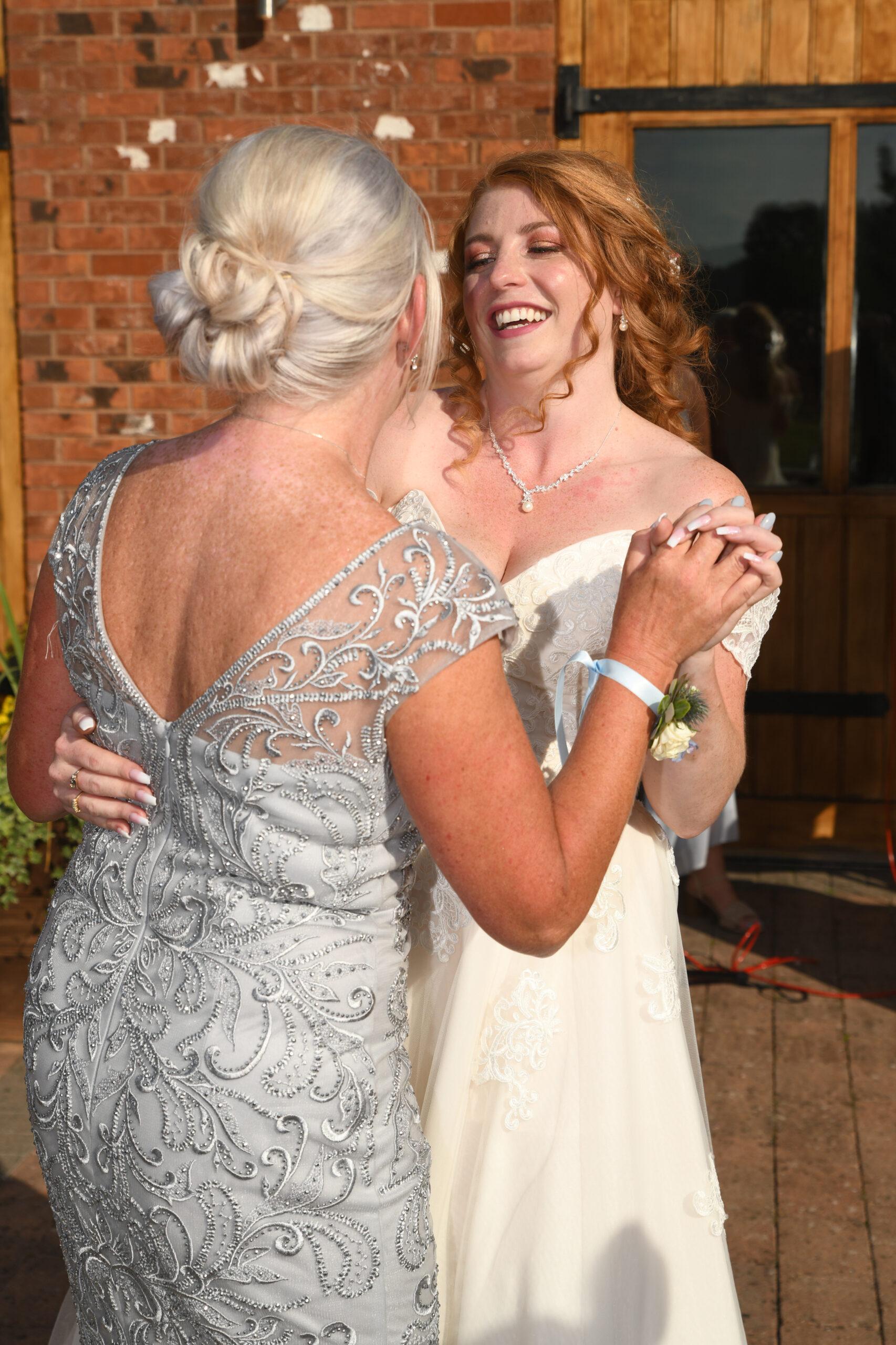 Bride and Mum Wedding Photo at Wootton Park