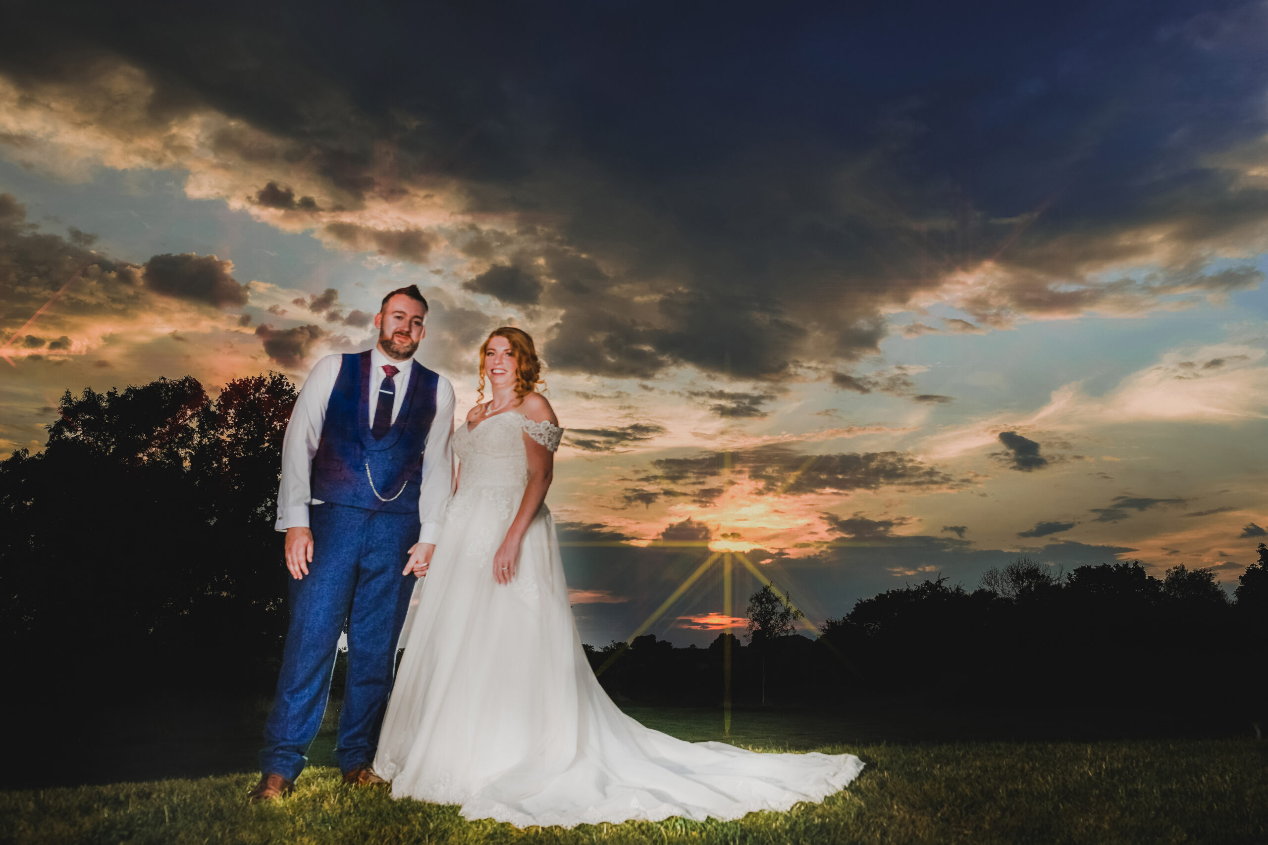 Sunset Wedding Photography at Wootton Park